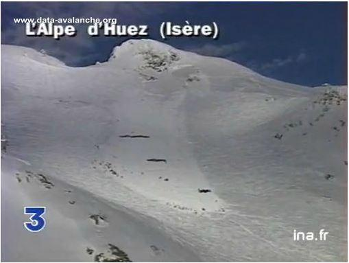 Avalanche Grandes Rousses, secteur Pic Blanc, Piste de Sarenne - Photo 1 - © France 3 Alpes