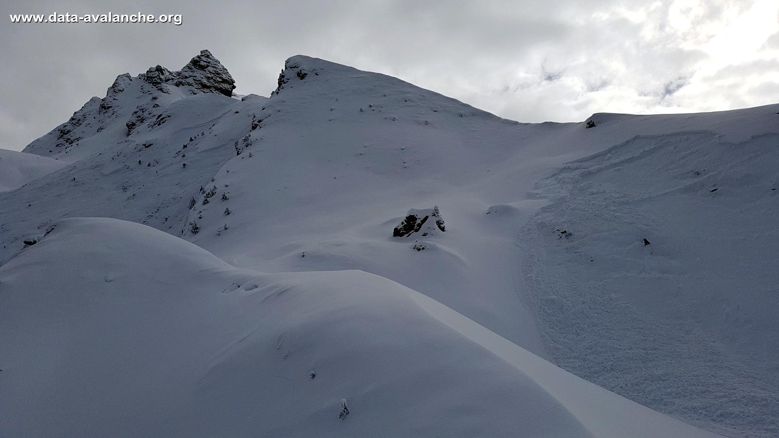 Avalanche Haute Maurienne, secteur Belle Plinier, Rocher de la Dame - Photo 1