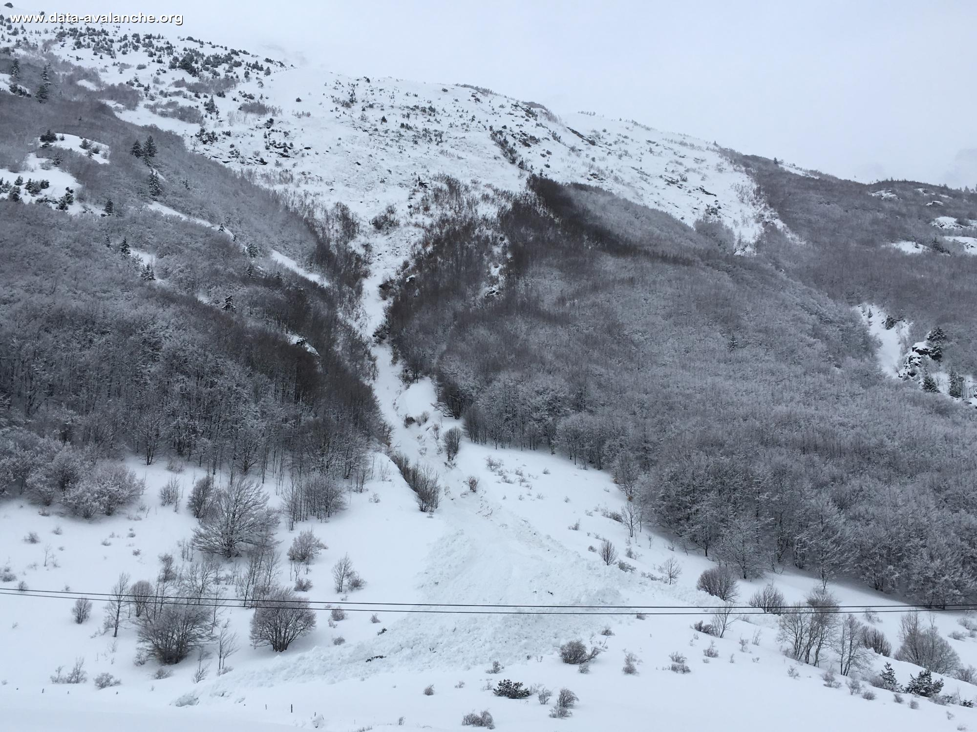 Avalanche Taillefer, secteur Col d'Ornon, Combe de la Lauze - Photo 1