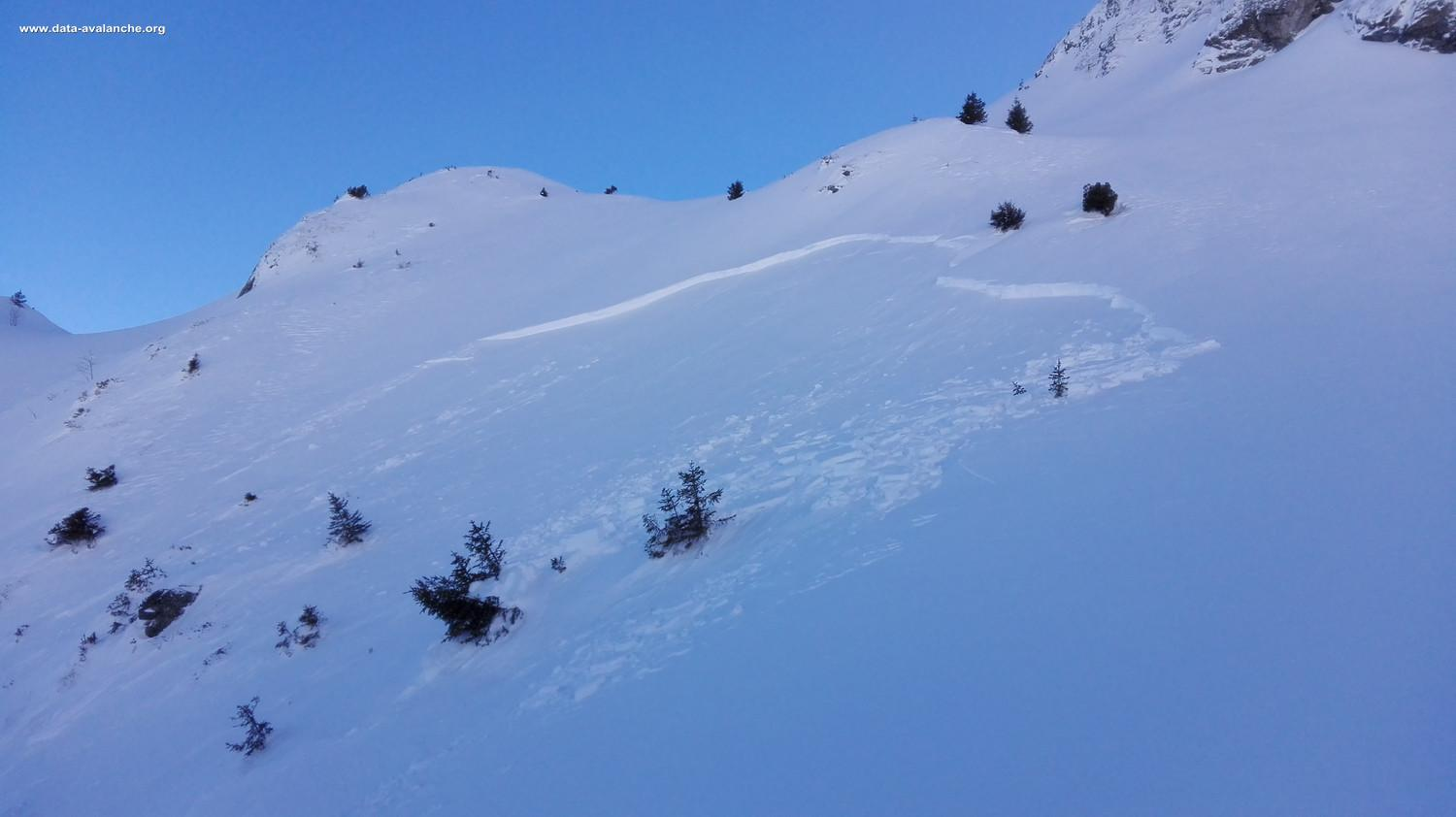 Avalanche Belledonne, secteur Le Ferrouillet, Lac de Crop - Photo 1