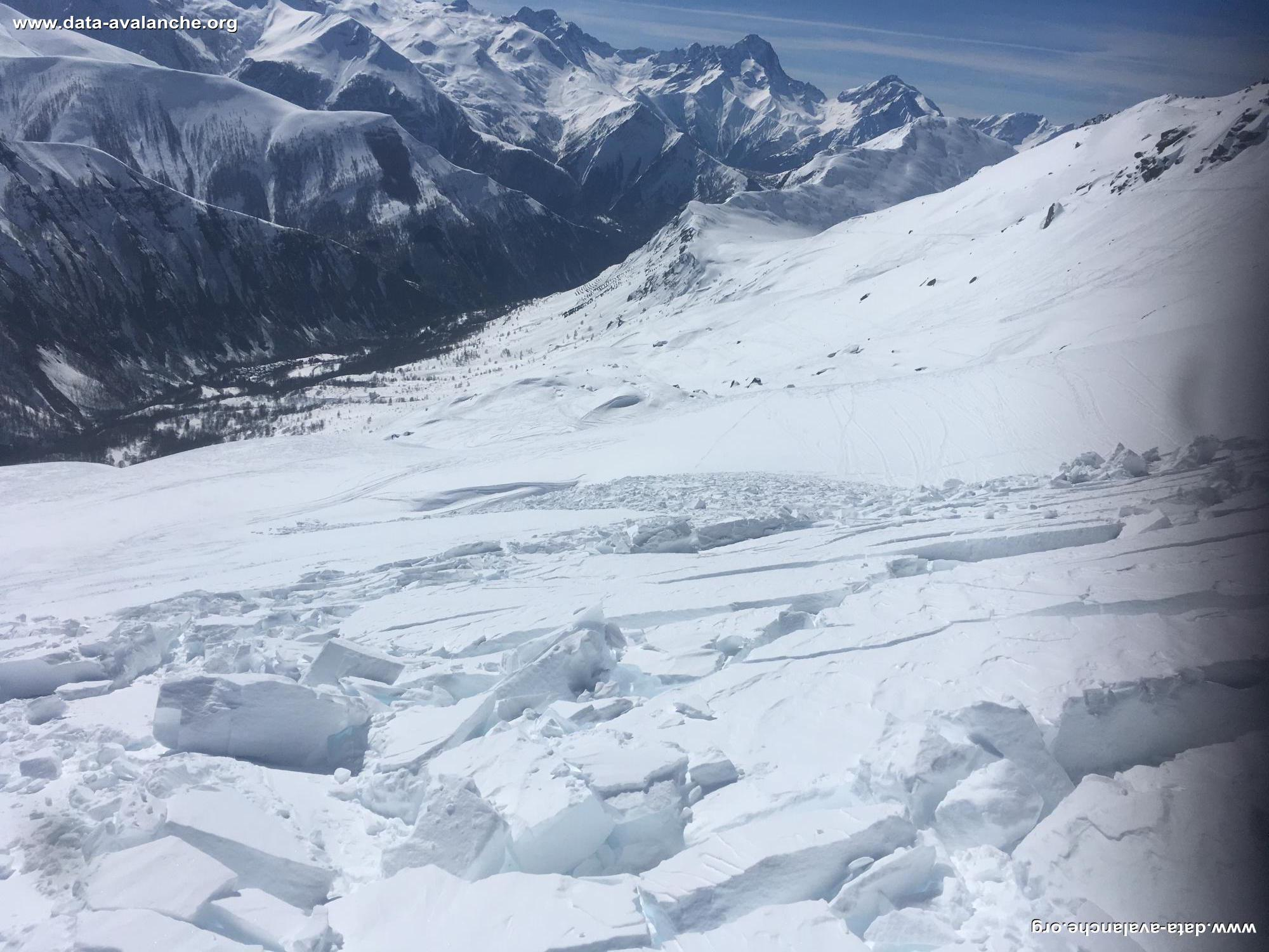Avalanche Grandes Rousses, secteur Alpe d'Huez, Grand sablât - Photo 1