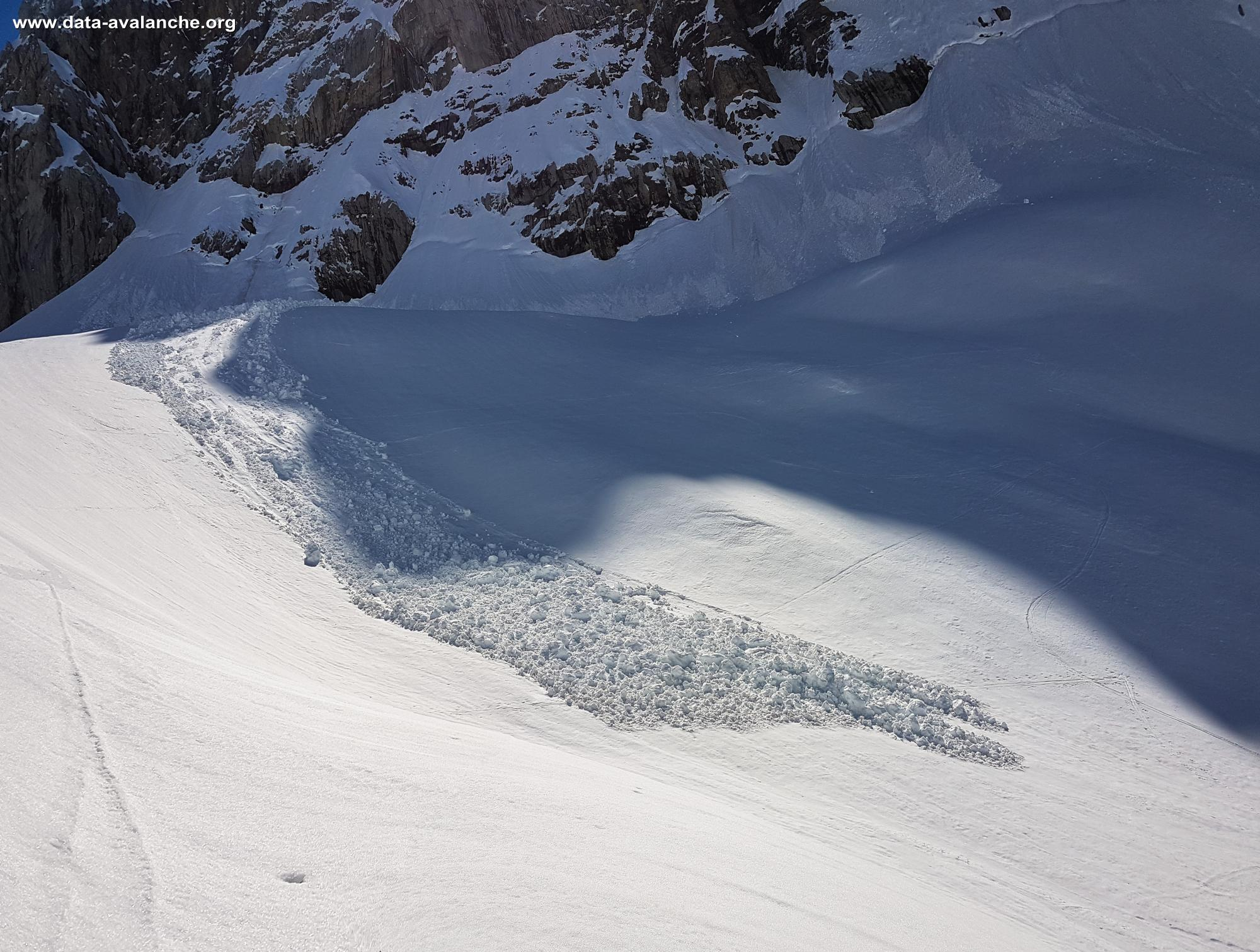 Avalanche Chablais, secteur Dent Blanche Occidentale, Pointes des Dents d'Odaz. - Photo 1 - © Claude Jenkins