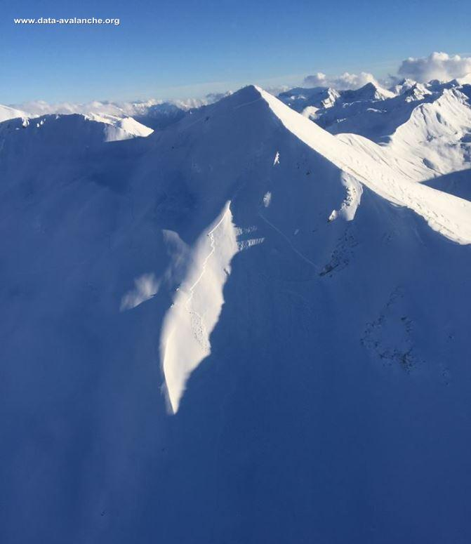 Avalanche Ubaye, secteur Caire Brun, Face Nord - Photo 1