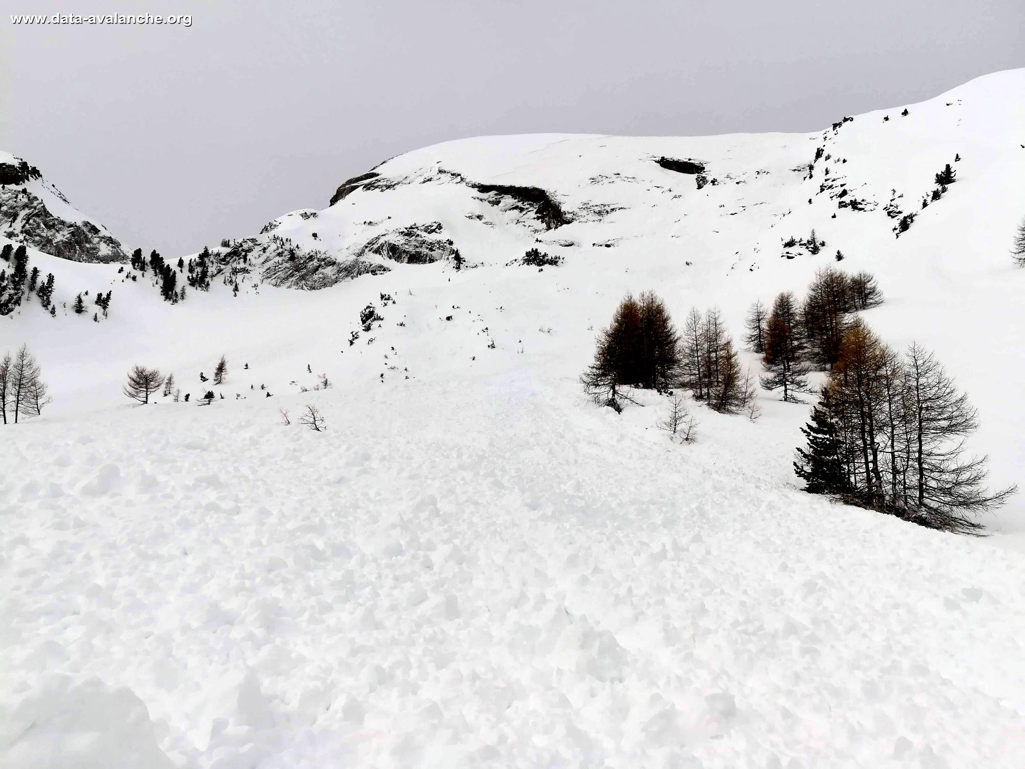 Avalanche Ubaye, Vallon de l'Encoungoura - Photo 1 - © Agnès VIVAT