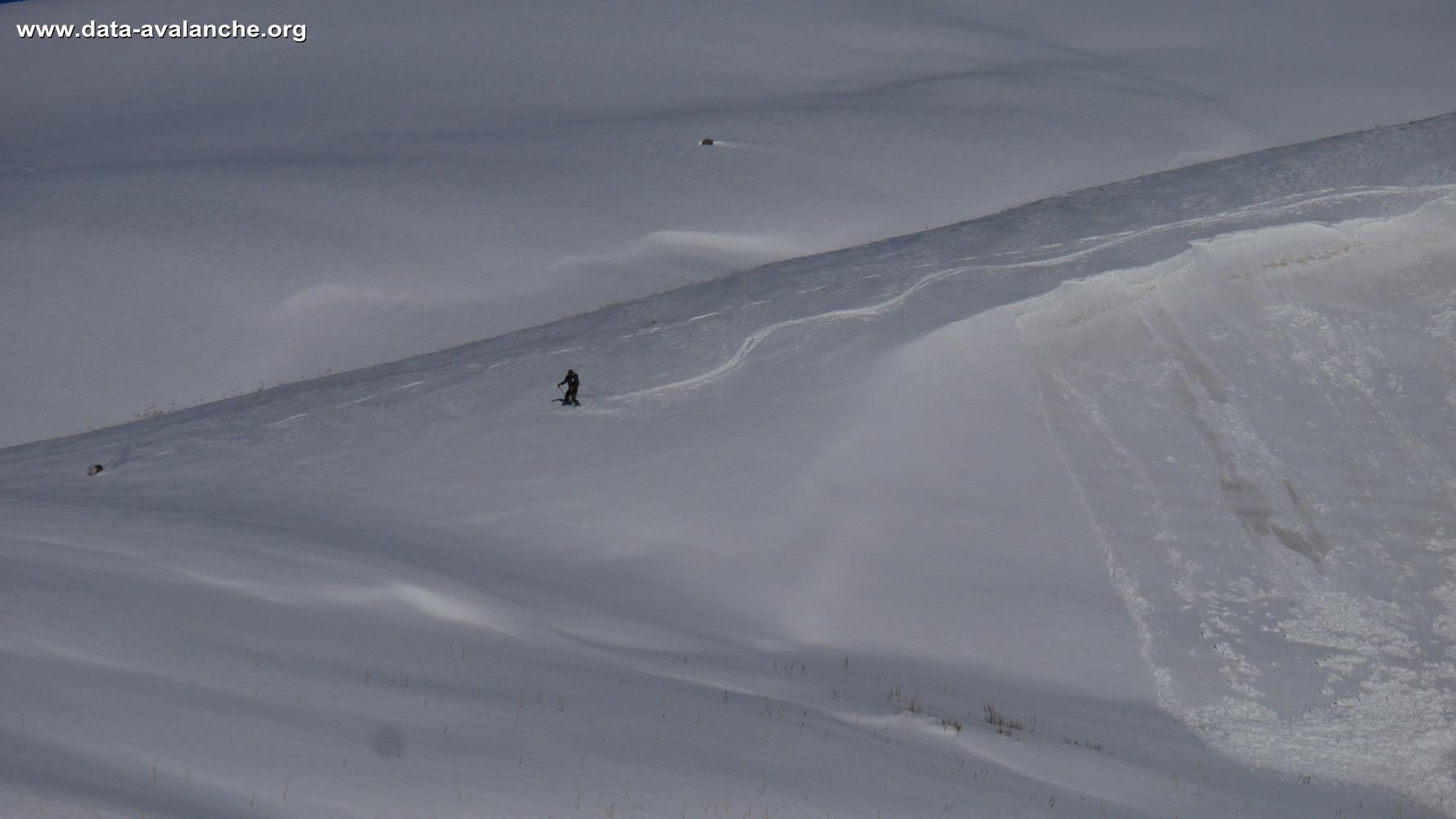 Avalanche Oisans, secteur Aiguillon - Photo 1 - © Gilles Ballini